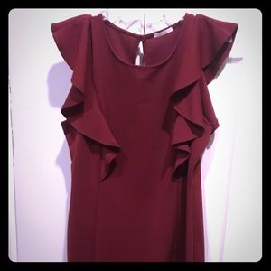 Oxblood color dress